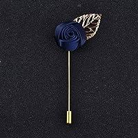 Handmade Rose Froal Gold Leaves Brooch Wedding Brooch Bouquet Gentlemen Lapel Pins Fashion Brooch for Men Suit Men Lapel Pin
