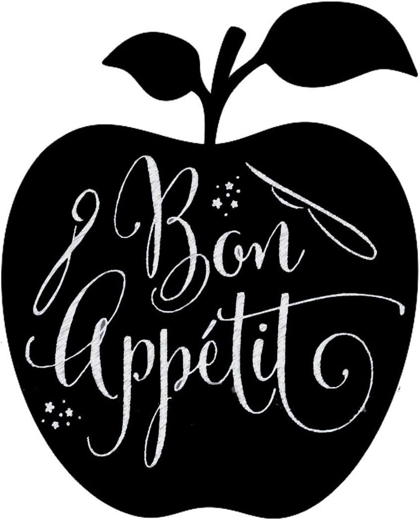 Melposmel Tableau Noir magn/étique Pomme