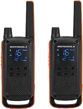 Motorola T82 - Walkie Talkie, color negro y naranja, paquete de 2 unidades: Motorola: Amazon.es: Electrónica