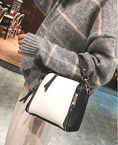 double Femme'S petits Totes de main Sacs Sac à noir Top sauvage Sac sacs carrés noir Bandoulière bandoulière sacs pour zipper manutention à filles fpnrwqvpx