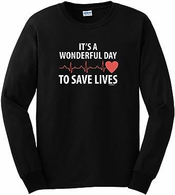 Part of My Life is Saving Life V-Neck T-Shirt Nurse Doctor EMT Medic Tee