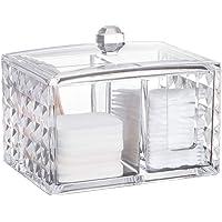 Cabilock Acrylic Diamond Pattern Cosmetic Cotton Pad Holder