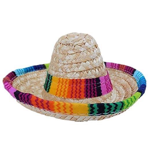 Amazon.com: ZWFUN Mini Perro Sombrero Multicolor Perro Gato ...