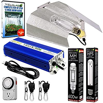 Yield Lab Wing Reflector Digital Dimming Ballast Grow Light Kit