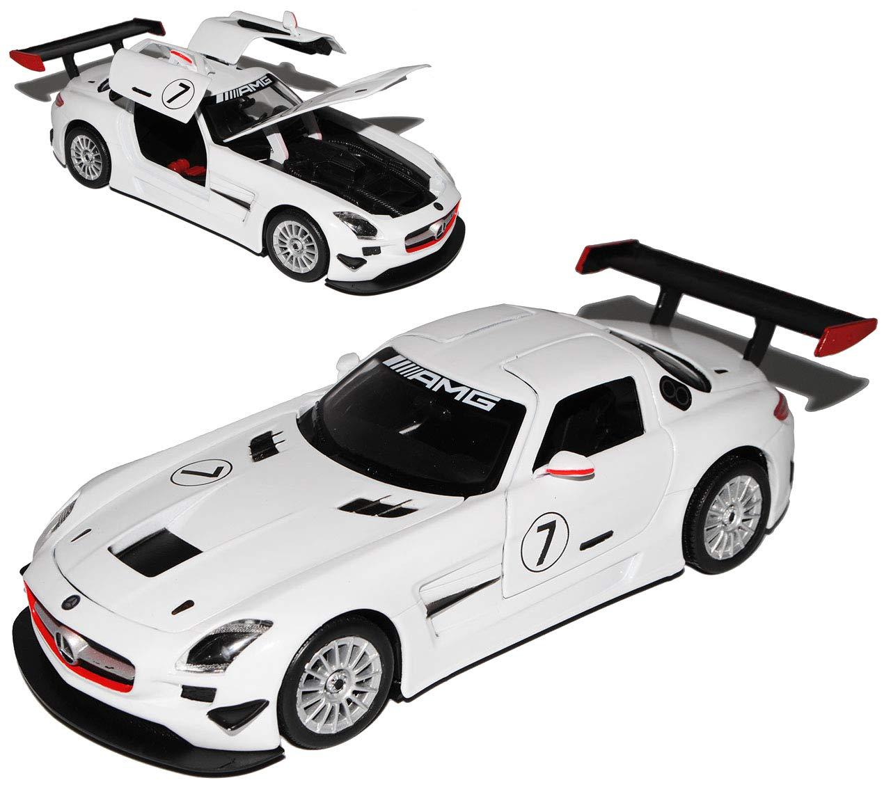 Motormax MERCEDES-BENZ SLS AMG GT3GT 3Bianco 1/24 modello auto auto Modellcarsonline MM79356WH