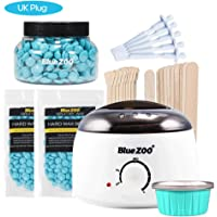 Eookall 7-in-1 Hair Removal Depilatory Set Wax Bean Warmer Heater Machine with Hard Wax Beans & Hair Removal Stick & Melting Wax Bowls