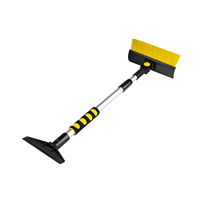"""Zone Tech Extendable Ice Scraper and Snow Brush with Foam Grip - Extends and Retracts from 23.5"""" to 35.5"""" for Easy Storage - Lightweight Sturdy Aluminum Design: Automotive"""