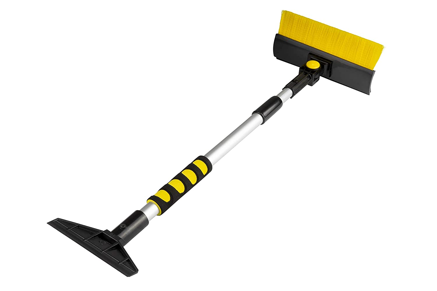 Lightweight Sturdy Aluminum Design Extends and Retracts from 23.5 to 35.5 for Easy Storage Zone Tech Extendable Ice Scraper and Snow Brush with Foam Grip