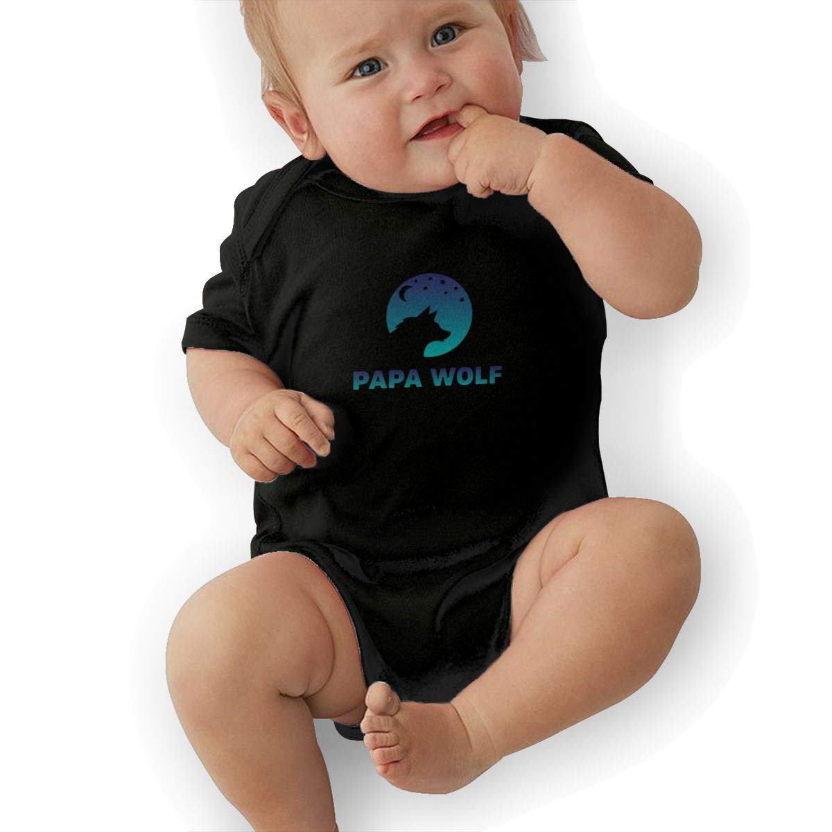 Papa Wolf Baby Pajamas Bodysuits Clothes Onesies Jumpsuits Outfits Black