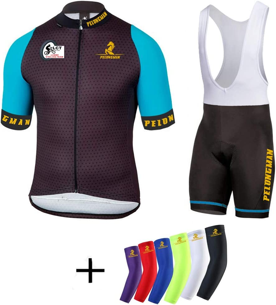 Men/'s Cycling Jersey Breathable Sports Geometric Clothing Bib Shorts Sets