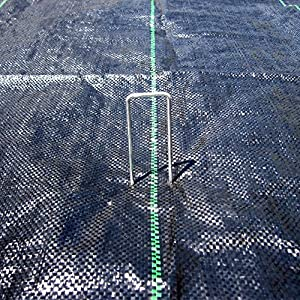 """MTB 50 Pack 6"""" L x 1"""" W 11GA (0.12"""") Sod Staples Galvanized Anti-Rust, Garden Pins Netting Stakes Ground Spikes Landscape Cover Pegs (Also Sold as 100 & 250 Pack. Black Carbon Steel is available)"""