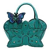 Genda 2Archer Girl Women Fashion Butterfly Hobo Tote Shoulder Bag (Green)