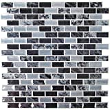 backsplash for kitchen  StickTILES Traditional Marble Peel and Stick Backsplash Tiles - 4 Per Pack