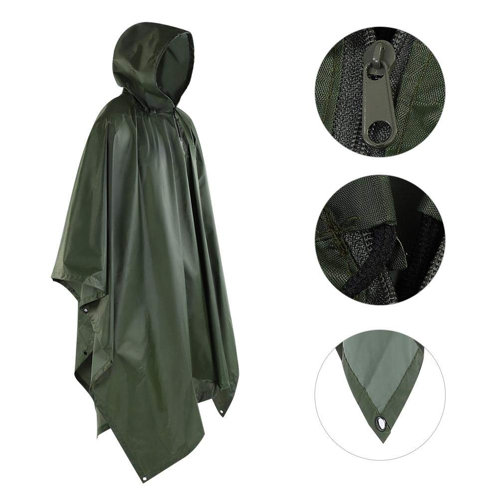 Zerone Rain Poncho Waterproof Jacket with Hood Versatile and lightweight for outdoor hiking camping for Boys Men Women Adults