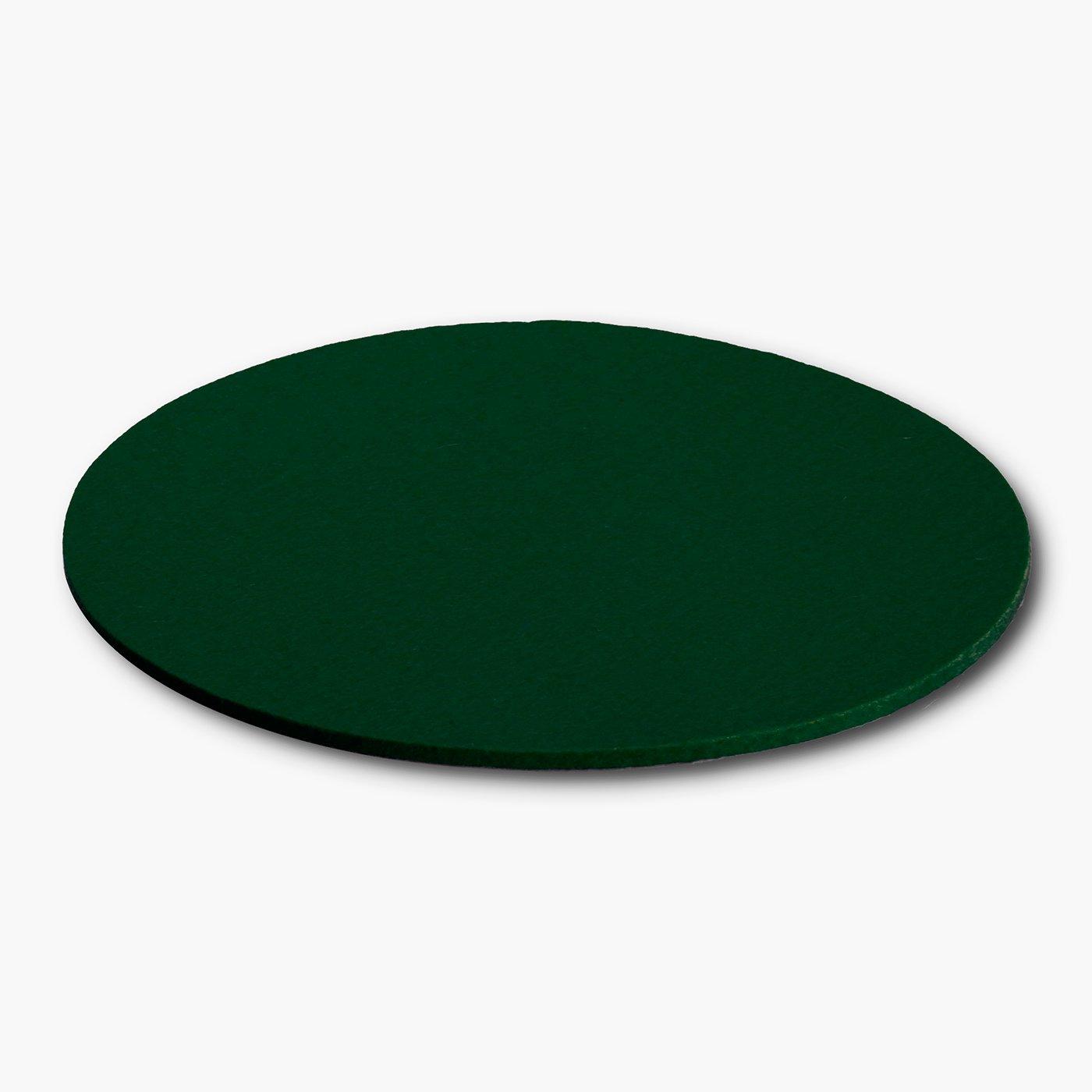 beige 25 cm /Ø Sous-verre sous-plat en feutre de laine premium Design haut de gamme de filzbrand 5 mm d/épaisseur rond 1 pi/èce
