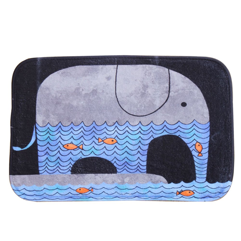 CHUANGLI Design Bathroom Indoor Rug Cute Cartoon Elephant Anti-slip Doormat Kids Love Carpet Soft Mat CHUANGLI-MXB710