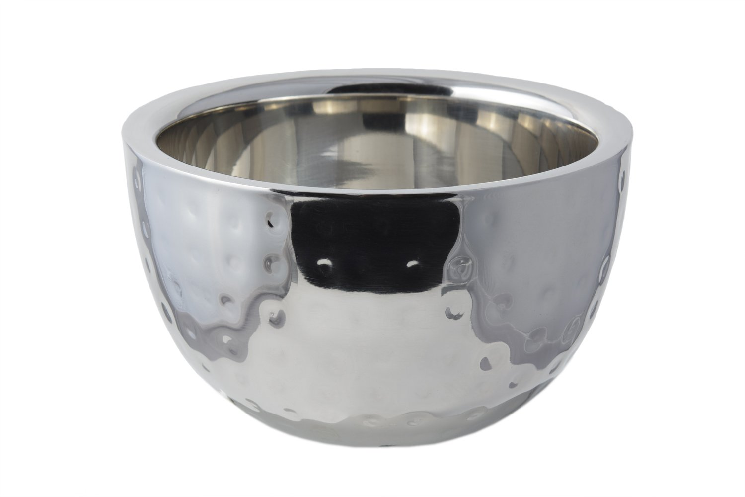 Bon Chef 61258 Stainless Steel Double Wall Bowl, Hammer Finish, 1-1/4 quart Capacity, 6-1/4'' Diameter x 3-3/4'' Height
