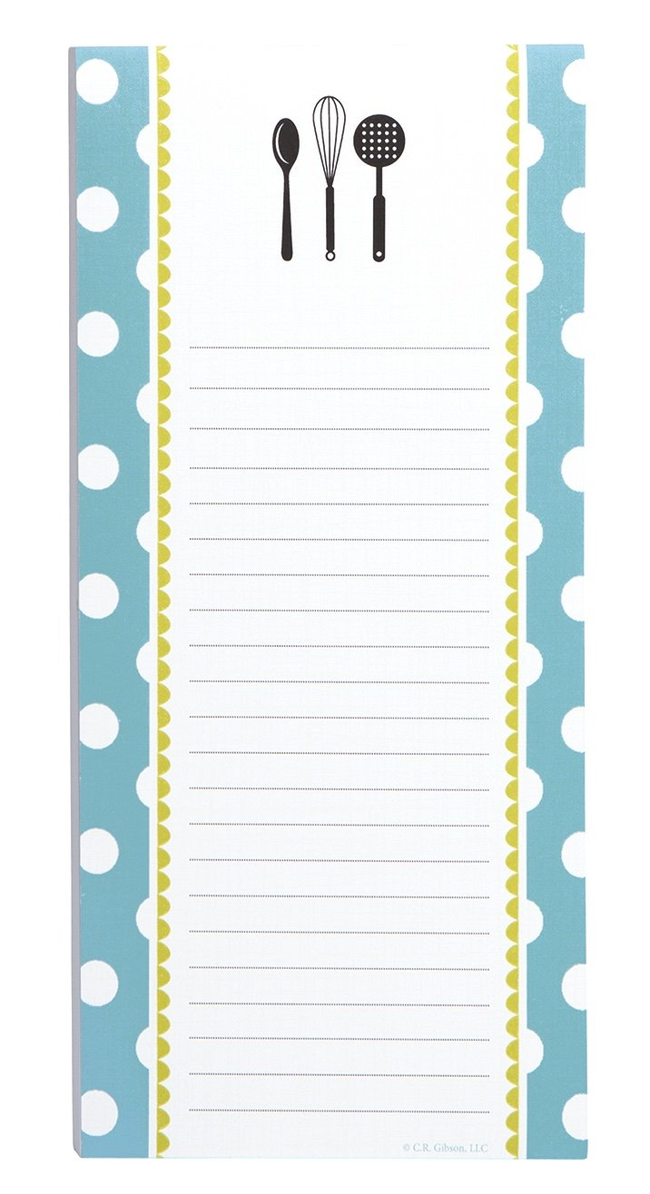 C.R. Gibson KitchenwareMagnetic Shopping List for Refrigerator, 75 Sheets 4.5'' W x 9.25'' H