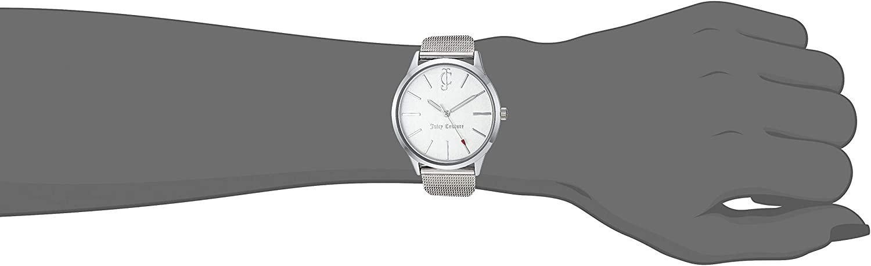 Juicy Couture Black Label Women's Mesh Bracelet Watch and Interchangeable Strap Set Silver