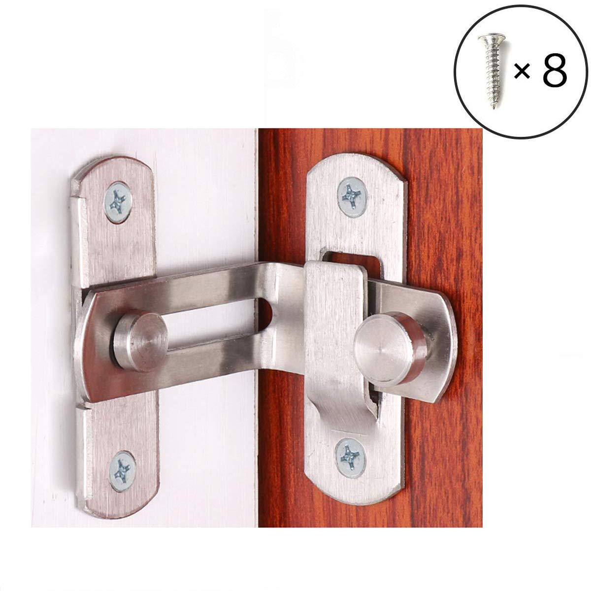 Right angle 90 degree door lock buckle door and window lock lock sliding door lock sliding door home door lock(2pcs) by ming
