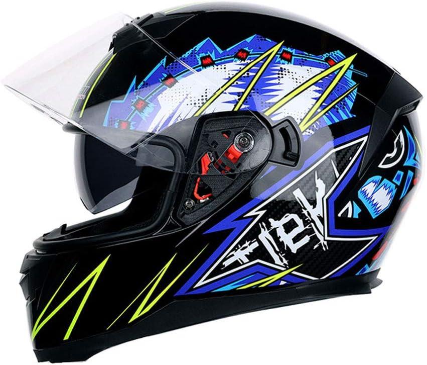 Frauen Dual-Lens Anti-Fogging-Vollgesichts-Motorradhelm Outdoor-Mountain-Motorradkappe Moto-Zubeh/ör Motocross-Helme f/ür M/änner