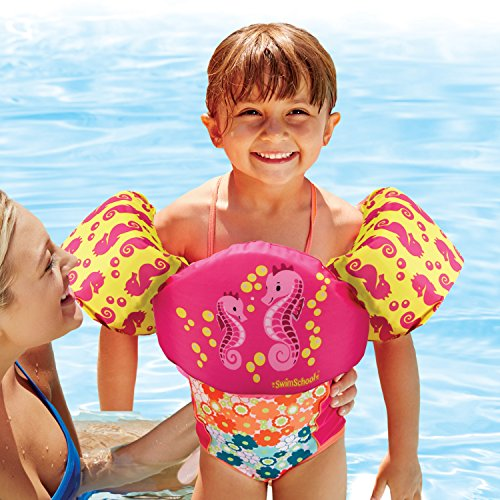 - SwimSchool Uscg Tot Swimmer Approved Type V Life Jacket/Pfd, Pink, Kids 30-50 Lbs