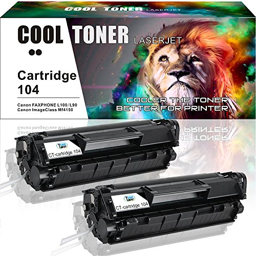 Canon Laser Oem Cartridge (2 Pack Compatible Cartridge 104 CRG-104 Fx-10 Fx-9 for Canon 104 Canon ImageClass 4150 MF4320D MF4350d MF4150 D480 D420 MF4370dn MF4350 MF4270 LBP 2900 LBP3000 F4370DN Faxphone L100 L90 L120 Printer)