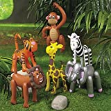 thaisan7 6 SAFARI ANIMAL INFLATABLE DECORATIONS 16'' TO 25'' NEW zebra,giraffe,tiger,lion++