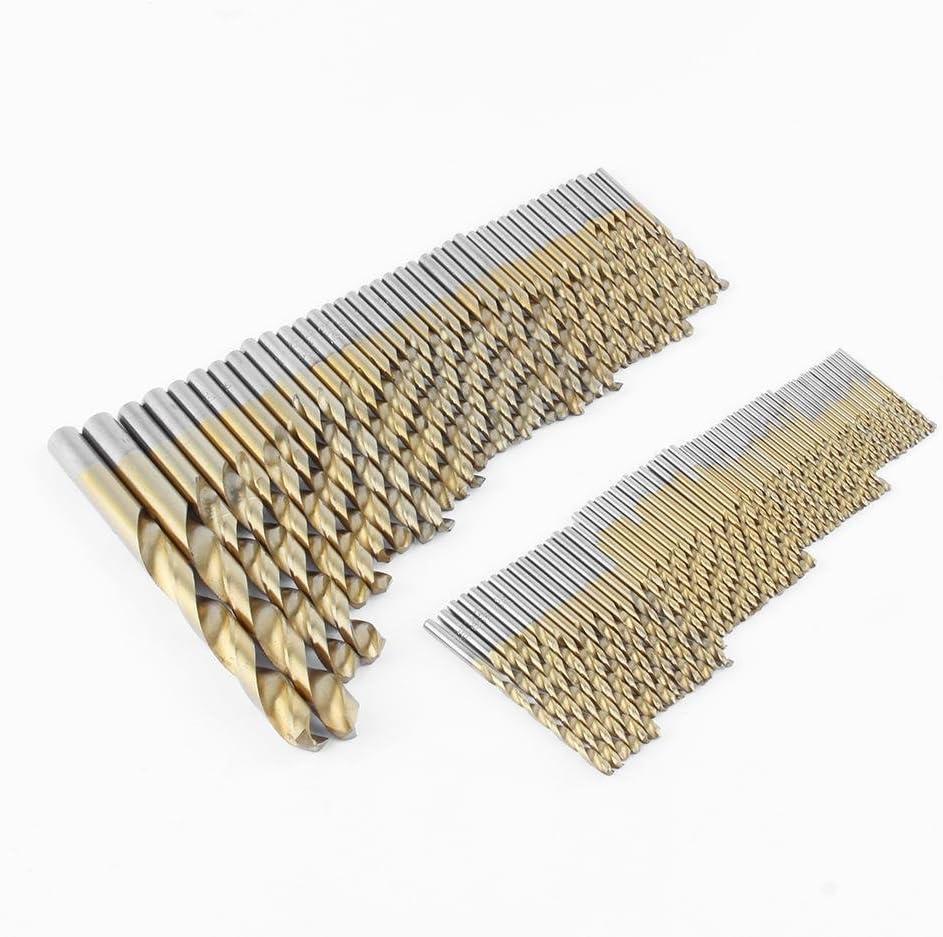 Cocoarm Lot de 99 forets en Acier Inoxydable avec rev/êtement Titane pour perceuse /à m/étaux HSS 1,5 mm /à 10 mm