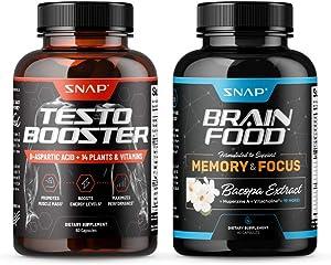 Testo Booster + Brain Food Bundle (2 Products)