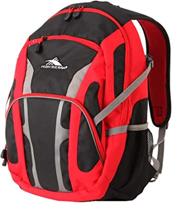 High Sierra 55017 Hiking Backpack, Crimson/Black, 31 L Capacity