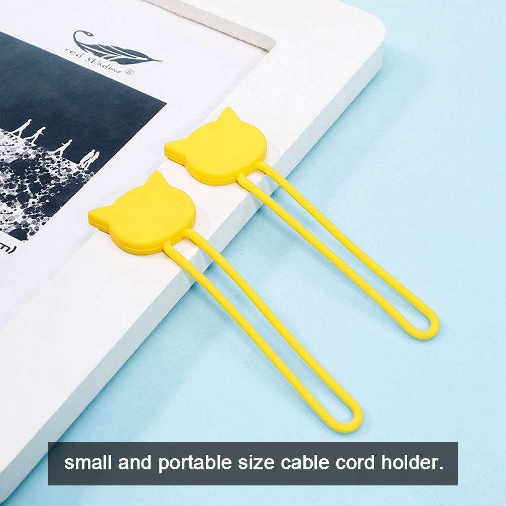 llavero y organizador de cables SACONELL 6 unidades de correas de silicona multiusos para auriculares enrollador de auriculares cable USB