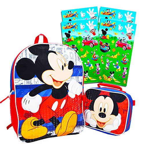 Disney Mickey Mouse Backpack with Lunch Box (16