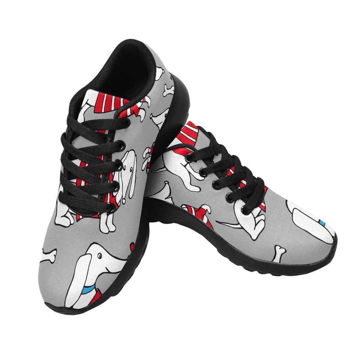 InterestPrint Women's Running Comfort Sports Athletic Shoes Dog Dachshund in Cardigan Brown 7 B(M) US