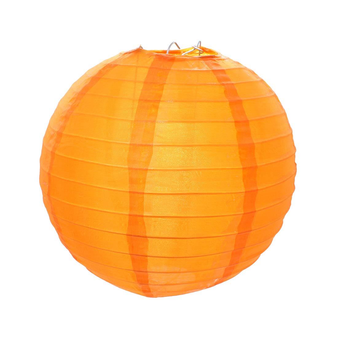 Chinois Lanterne Ronde pour D/écoration de Mariage No/ël Maison Anniversaire F/ête Yuhtech Lanternes en Nylon 6 Couleurs - 18 Pcs