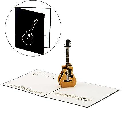Amazon Unigift Guitar Pop Up Birthday Cards For Women Men Boys