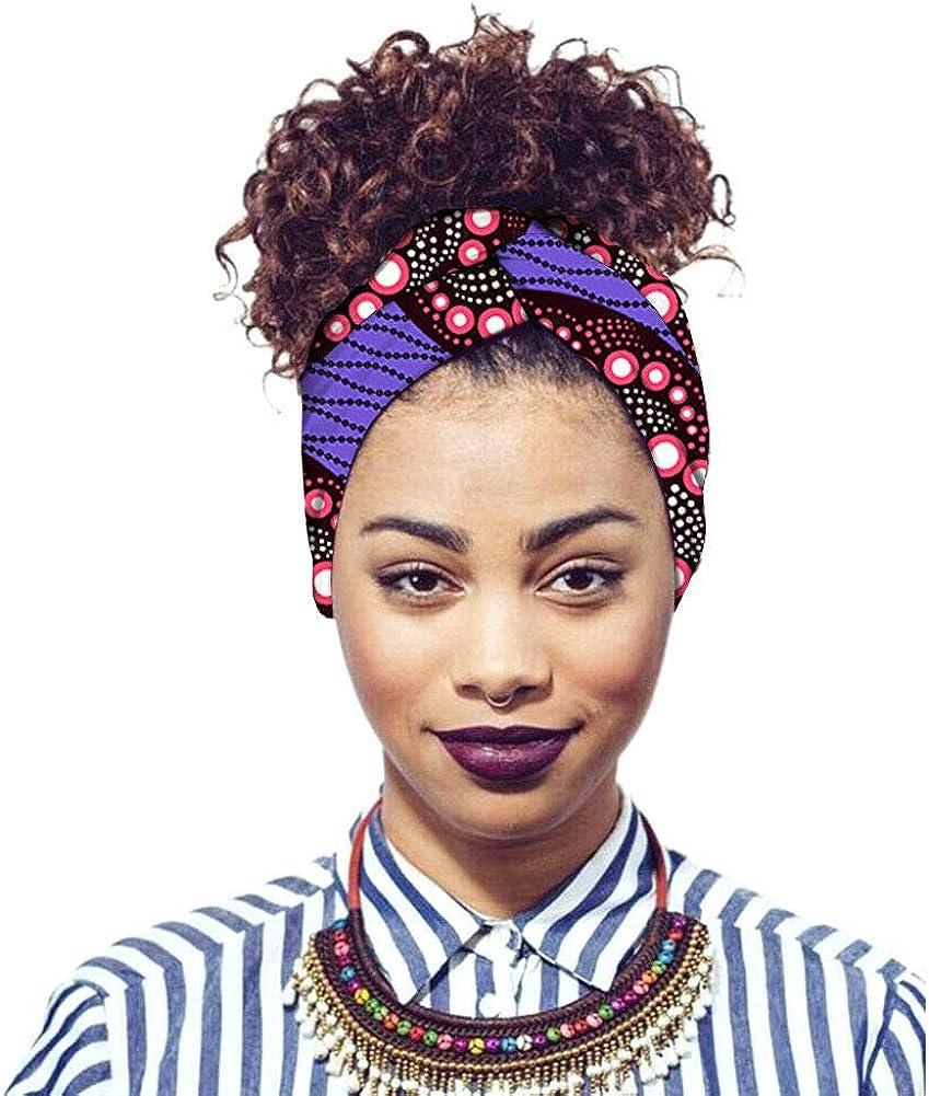 Haodasi Damen Baumwoll-Hijab-Bandana Afrikanischer Traditioneller Turban Kopfbedeckung Nigerianische M/ädchen Kopftuch