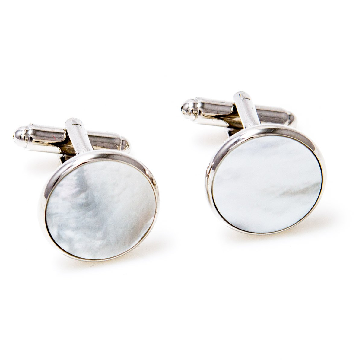 MRCUFF Mother of Pearl Cufflinks and Studs Tuxedo Set in a Presentation Gift Box & Polishing Cloth by MRCUFF (Image #3)