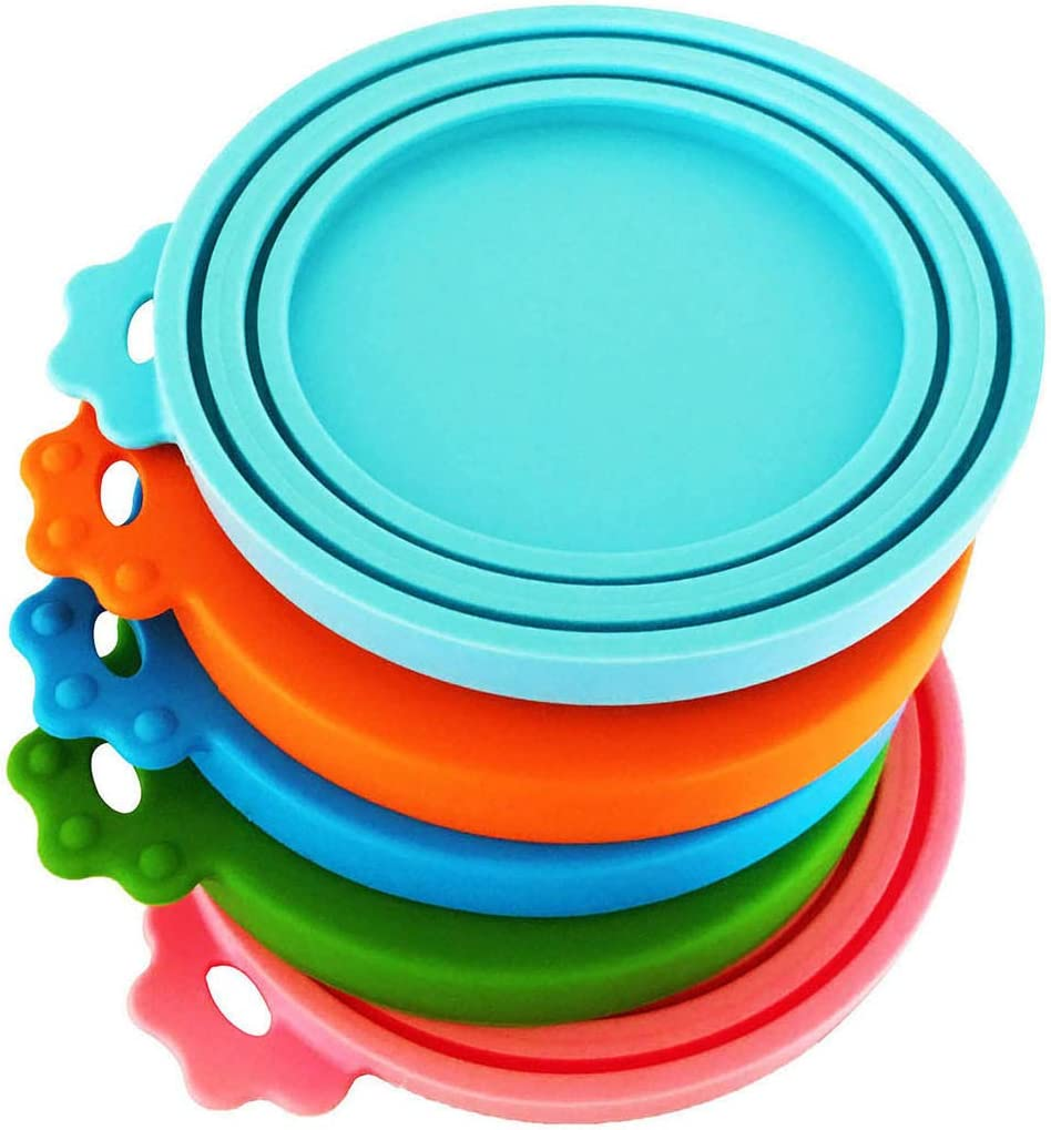 DYBEN Pet Can Covers/Universal BPA Free & Dishwasher Safe/Silicone Pet Food Can Lid Covers