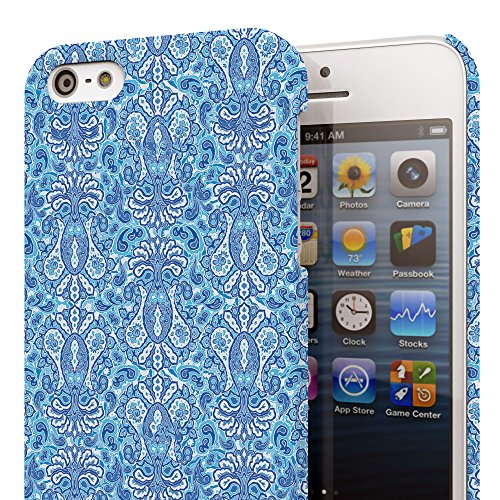 Koveru Back Cover Case for Apple iPhone 5S - Azure Paisley