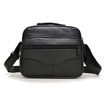 Amazon.com  Male Bag Genuine Leather Men Messenger Bag Luxury Brand  Designer Crossbody Bags Casual Vintage Business Shoulder Bags Shu kuan  Large 18x20x9 cm  ... 5951ad82a6a9d