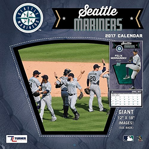 "Turner Licensing Sport 2017 Seattle Mariners Team Wall Calendar, 12""X12"" (17998011863)"