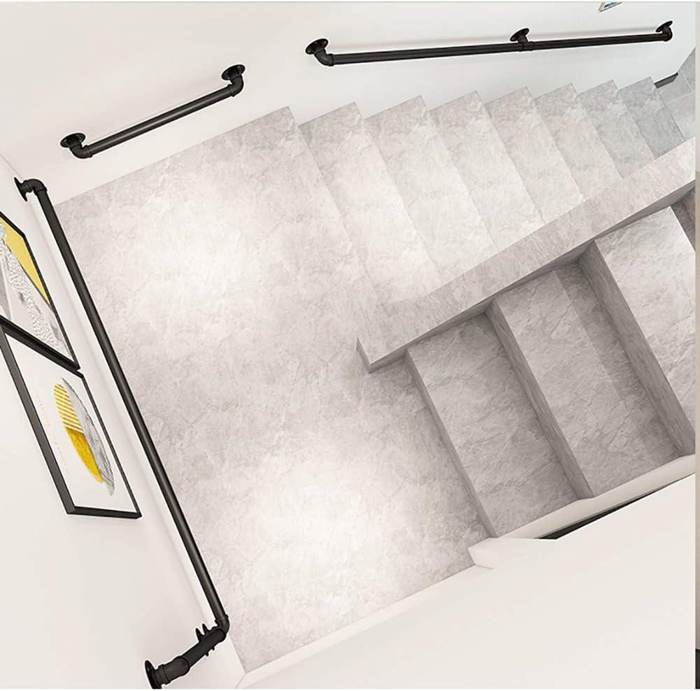 Mehrzweck Handlauf Treppengel/änder Loft Industrial Style Eisenrohrhalterungen 1-16fts Verf/ügbar f/ür /ältere Menschen Size : L120cm-4ft Kinder Farbe: Schwarz Home mall