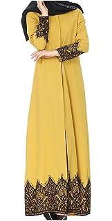 Babaseal Vestido de Fiesta Maxi Abaya de Caftán Musulmán Breasted étnico de Las Mujeres Vestido Largo