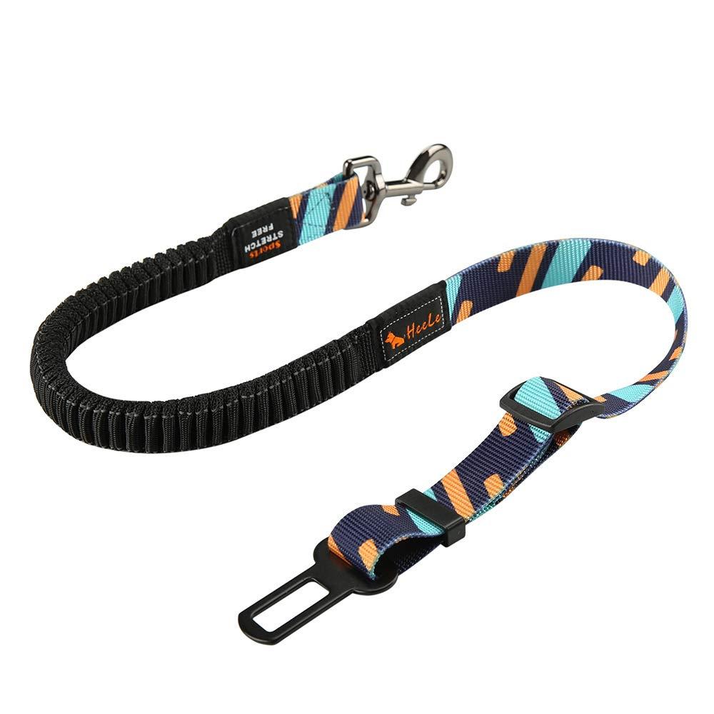 ZMYNB Dog Seat Belt for Vehicle, Adjustable Pet Seat Belt, Heavy & Elastic & Durable Car Seat Belt Suitable for Dog, Cat, Etc,Blue
