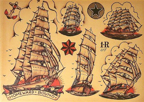 Sailor Heart Tattoo (Sailor Jerry Tattoo Flash (10 Sheets): Skulls, Ships, Hearts)