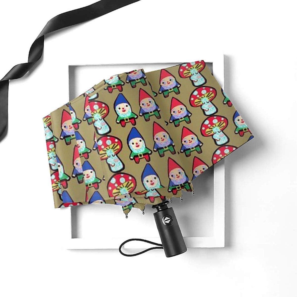 Gnome Mushroom Mash Umbrella Compact Rain/&Wind Repellent Umbrellas Sun Protection With Anti UV Coating Travel Auto Folding Umbrella