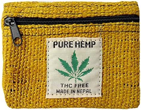 100% Hemp Pouch with Marijuana Leaf Label