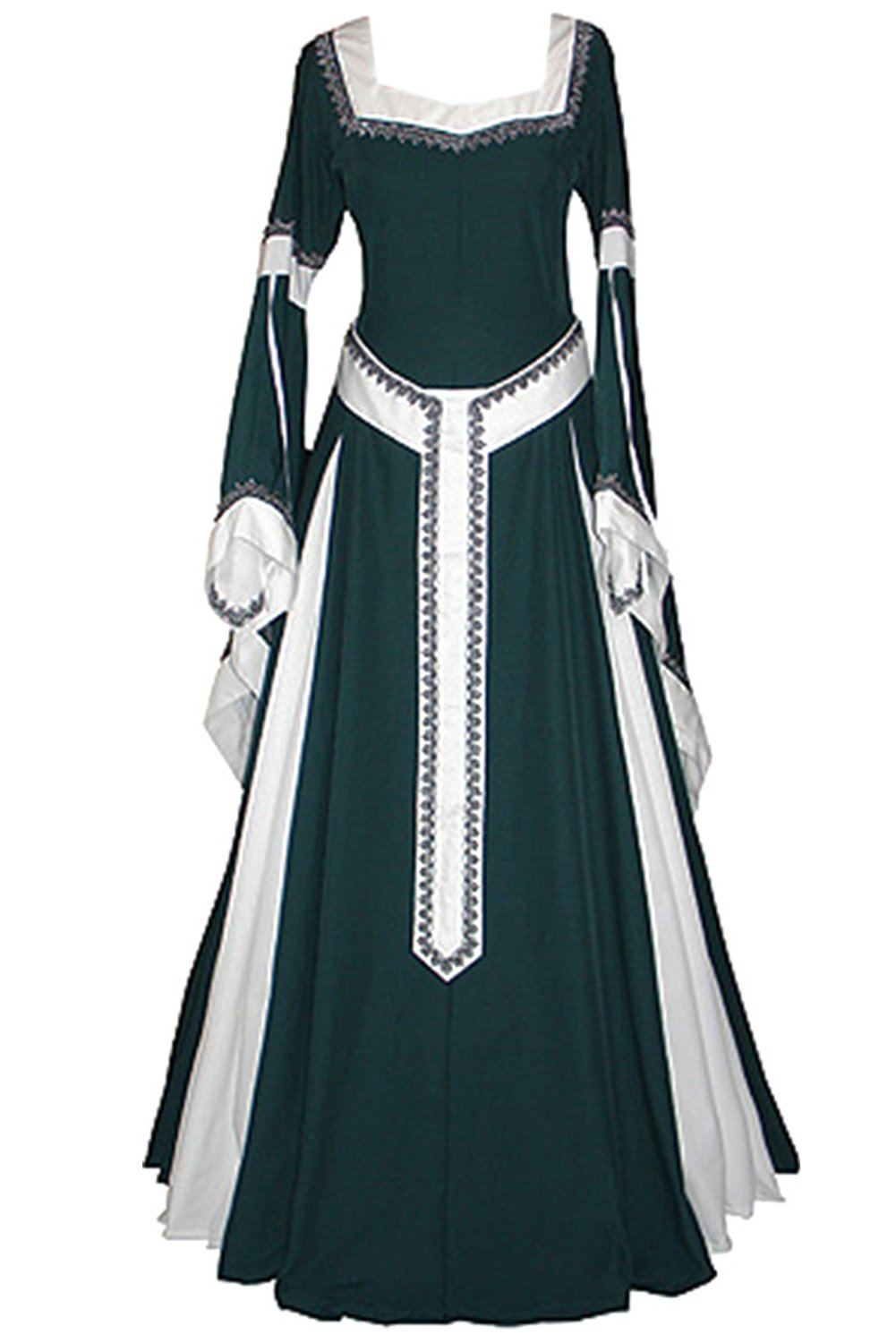 Amazon.com: Boomtrader Medieval Long Sleeved Trumpet Gothic Victorian Fancy Party Dress: Clothing