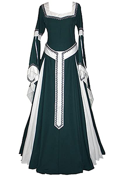Amazon.com: Laku Women Medieval Costume Long Gown Dress ...